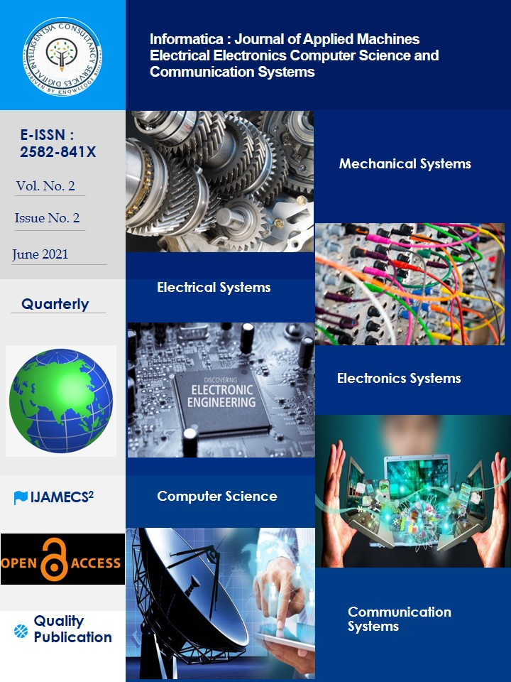 View Vol. 2 No. 2 (2021):  Informatica : Journal of Applied Machines Electrical Electronics Computer Science and Communication Systems